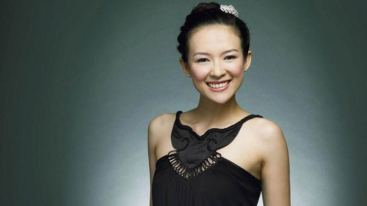 Zhang Ziyi Cute Smiling Face In Black Dress