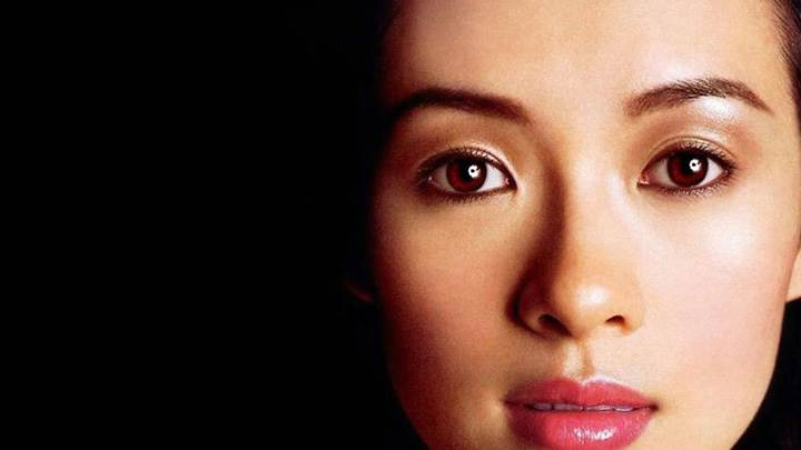 Zhang Ziyi Pink Lips Cute Ultra Face Closeup