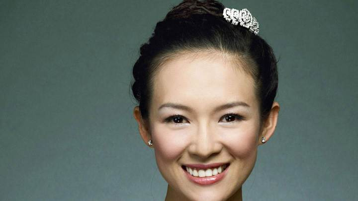 Zhang Ziyi Sweet Smiling N Pink Lips Face Closeup