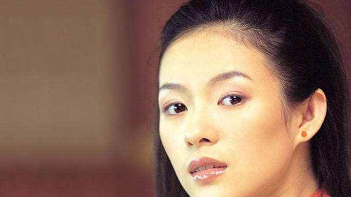 Zhang Ziyi Wet Lips Looking Front Cute Face Closeup