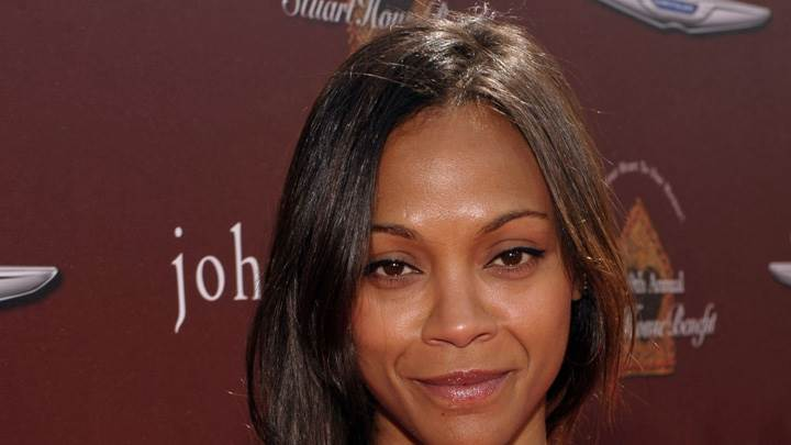 Zoe Saldana Smiling Face Closeup In Los Angeles