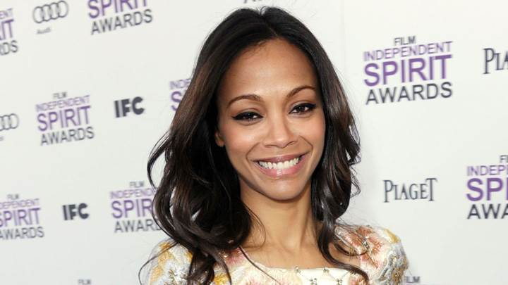 Zoe Saldana Smiling Face Photoshoot At Film Independent Spirit Award
