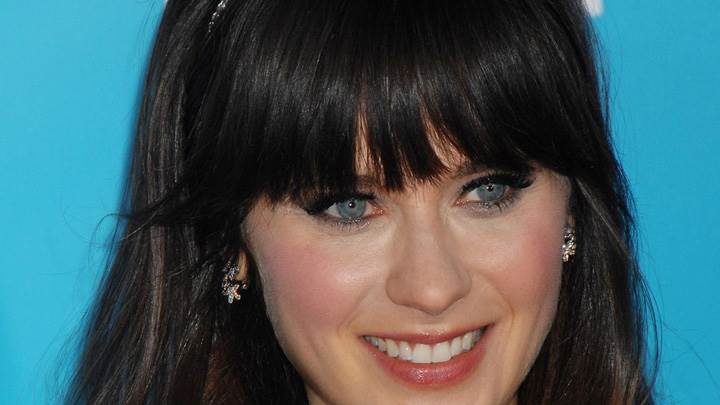 Zooey Deschanel Smiling Red Lips N Cute Eyes Face Closeup