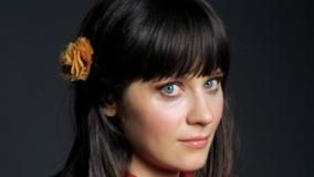 Zooey Deschanel Wet Lips Looking At Camera Face Closeup