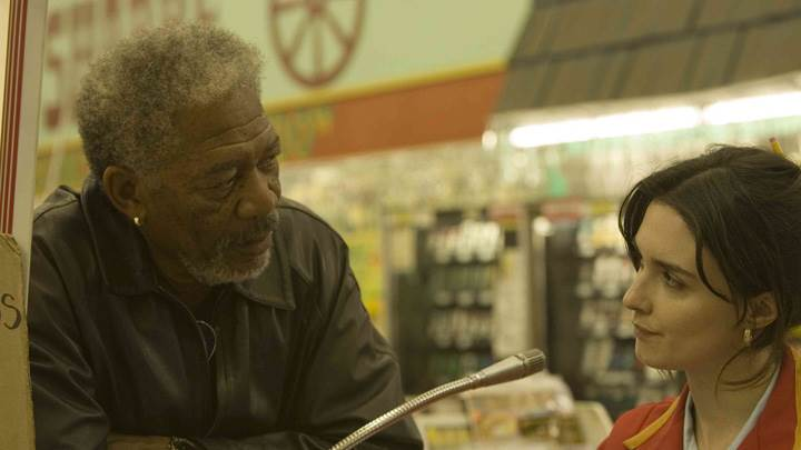 10 Items or Less – Morgan Freeman and Paz Vega Talking