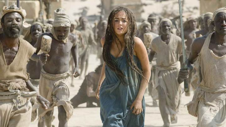 10,000 BC – Camilla Belle In Blue Dress