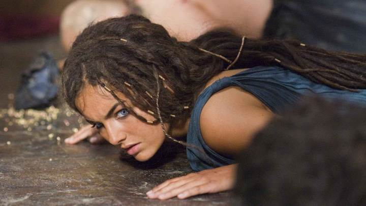10,000 BC – Camilla Belle Laying On Floor