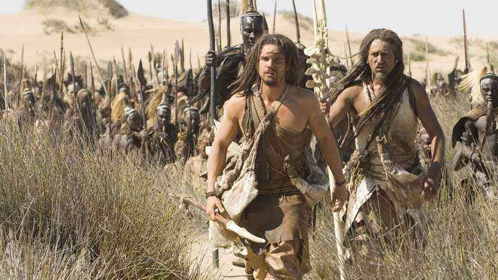 10,000 BC – Cliff Curtis and Steven Strait In Desert