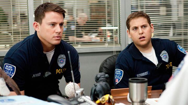 21 Jump Street – Channing Tatum With Jonah Hill Sitting In Office