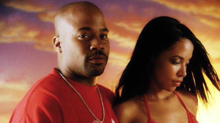 Aaliyah In Red Dress With A Man