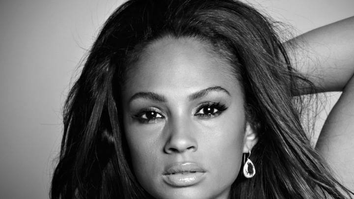 Alesha Dixon Black And White Face Closeup