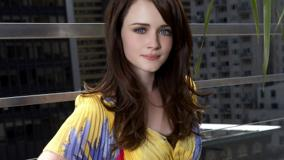 Alexis Bledel Blue Eyes N Yellow Dress Sweet Pose