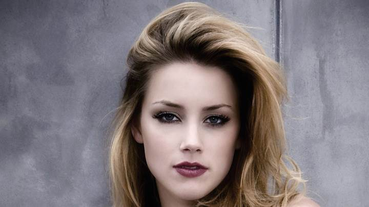 Amber Heard Looking At Camera Face Closeup