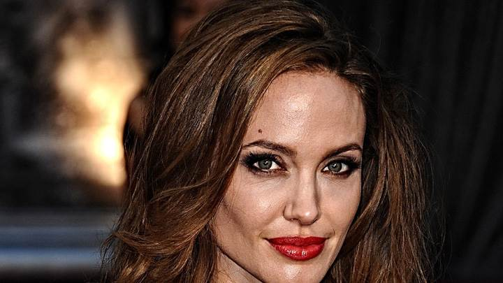 Angelina Jolie Looking At Camera Front Face Closeup