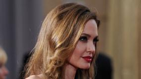 Angelina Jolie Red Lips Side Face Closeup