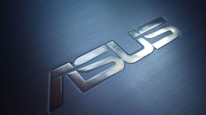 Asus LoGo On Blue Background