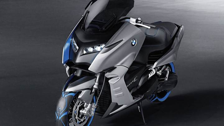 BMW Concept C Front Side Pose In Blue N Silver