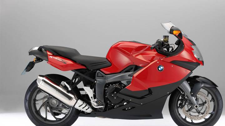 BMW K1300S Stylish In Red Side Pose
