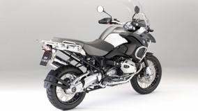 BMW R1200 Side Pose In Grey