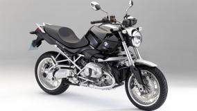 BMW R1200R In Black Side Pose