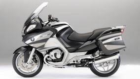 BMW R1200RT In Black And White Side Pose