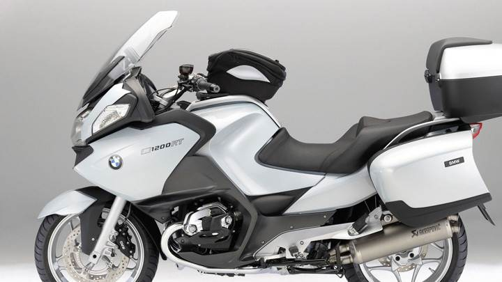BMW R1200RT In White Side Pose