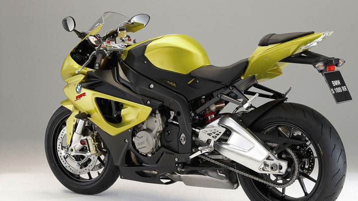 BMW S1000RR In Yellow Side Pose