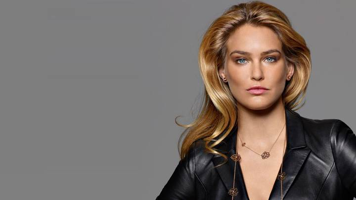 Bar Refaeli In Black Dress At Piaget's Rose Collection 2012