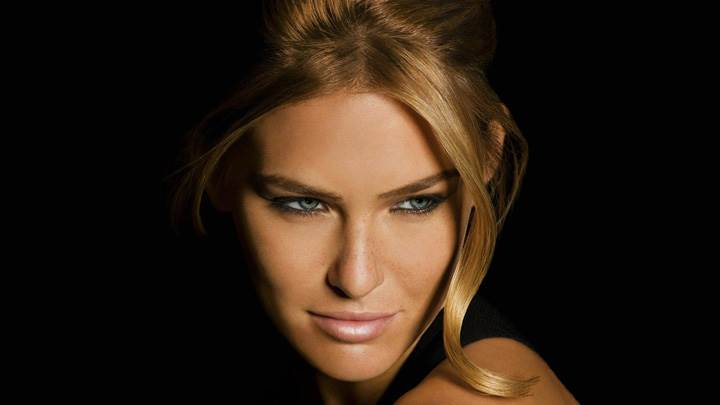 Bar Refaeli Sweet Face Closeup On Black Background