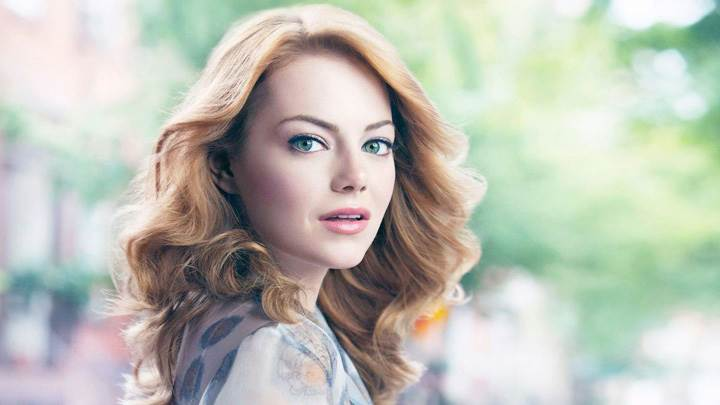 Beautiful Emma Stone Side Face Closeup