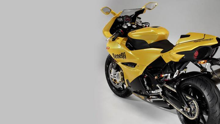 Benelli Tornado Tre 903 Side Back Pose In Yellow
