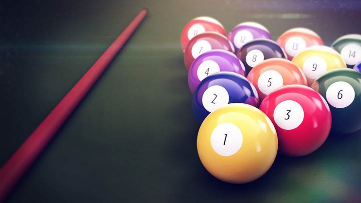 Billiards Balls With Stick