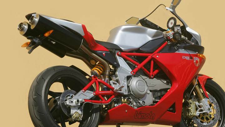 Bimota DB5 Stylish Side Back Pose In Red