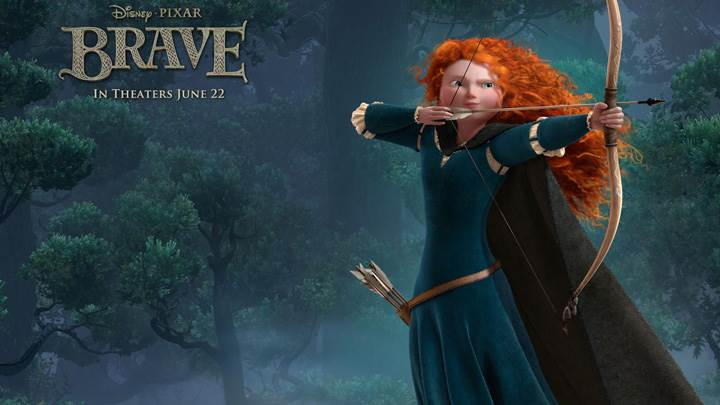 Brave – Kelly Macdonald As Princess Merida Bow & Arrow In Hand