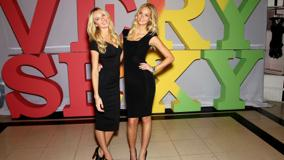 Candice Swanepoel And Erin Heatherton At Victoria's Secret Tour