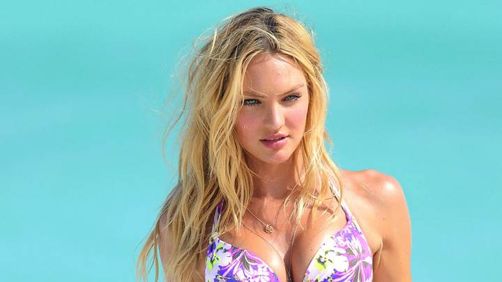 Candice Swanepoel In Golden Hairs N Bikini Photoshoot