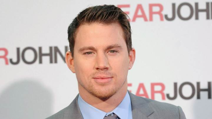 Channing Tatum In Grey Coat At EARJOHN Event