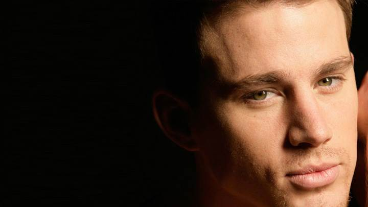 Channing Tatum Smart Face Closeup At Black Background