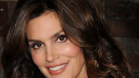 Cindy Crawford Smiling Orange Lips Sweet Face Closeup