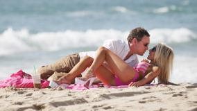 Courtney Stodden Kissing Laying Pose At Sea Side