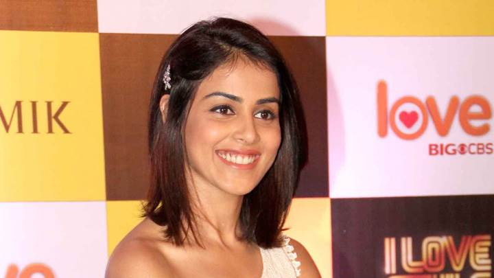 Cute Smiling Genelia D'souza At Big Cbs Love Press Meet