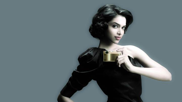 Deepika Padukone In Sony Advertisement In Black Dress