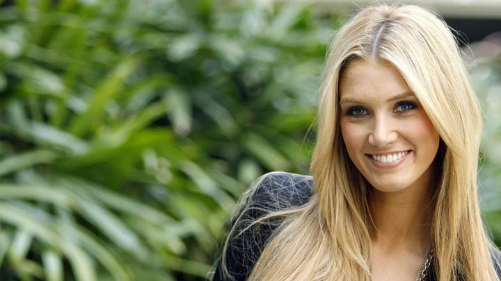 Delta Goodrem Smiling In Garden