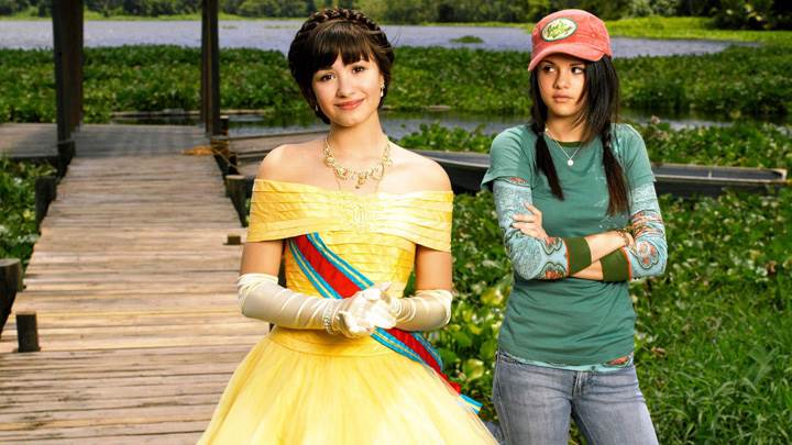 Demi Lovato And Selena Gomez In Garden