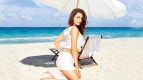 Dia Mirza Modeling Photoshoot Near Sea