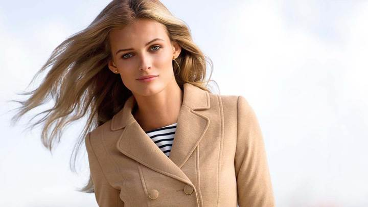 Edita Vilkeviciute In Cream Color Coat