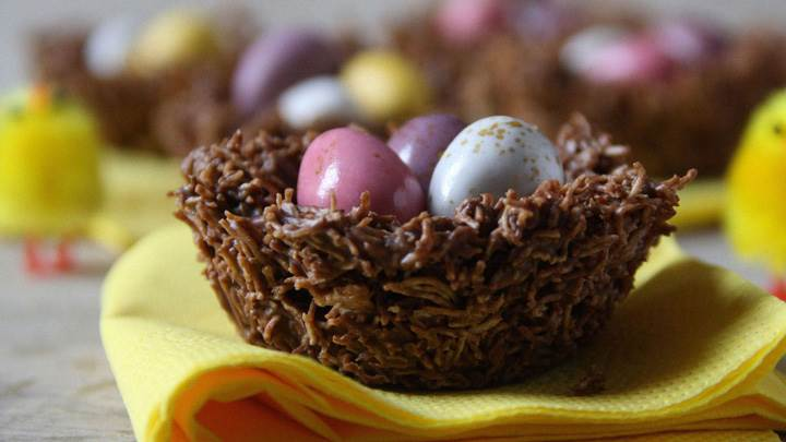 Eggs In Chocolate Bowl