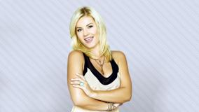 Elisha Cuthbert Smiling Photoshoot And Cream Dress