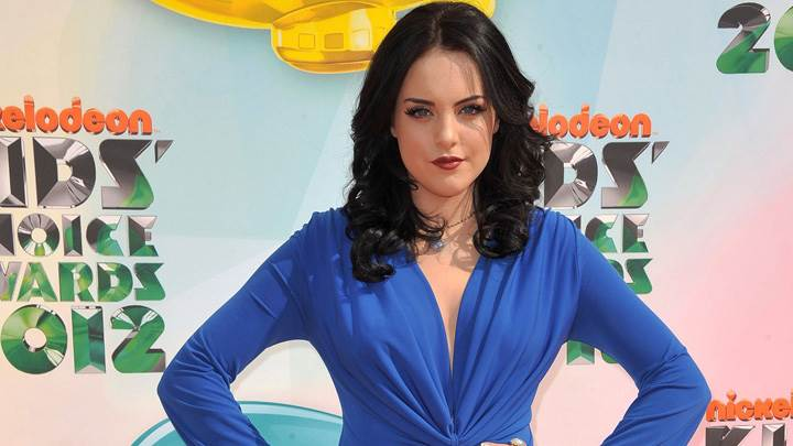 Elizabeth Gillies In Blue Dress At Annual Kids Choice Awards