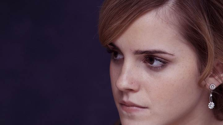 Emma Watson Looking Somthing Side Face Closeup